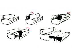 5810 Toledo Ada kanapé ágy funkció nyitása
