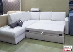 Az ágyszerkezet félig nyitott állapotban kényelmes lábtartóként használható