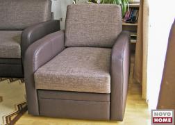 5942 fotel, ágyneműtartó fiókkal és L karfával