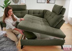 Az ülőfelület alá nagy méretű ágyneműtartó is kérhető
