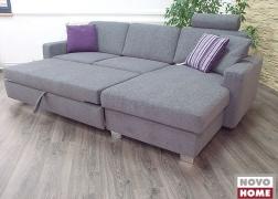 L alakú sarok ágy funkcióval 248x156 cm-es méret