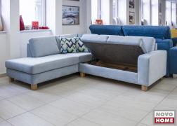 Felnyitható ágyneműtartó a kanapé rész ülőfelülete alatt