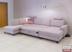 Ágyazható kanapé nyitott állapotban, óriási fekvőfelülettel