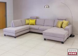 Az ADA 6372 kanapé sárga párnákkal is nagyon jól mutat