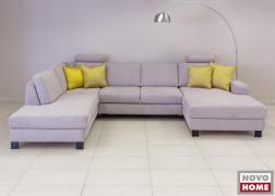 ADA Trendline  6372 kanapé, A típusú karfával és fekete fém lábbal