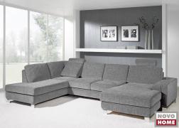 U alakú kanapé 6372 ADA nyaktámaszokkal, C karfával