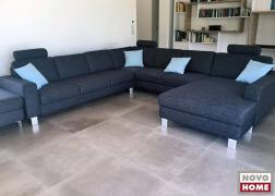 Óriás méretű U alakú kanapé, mindkét oldalán karfás lezárással