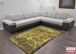 6435 L alakú kanapé mindkét oldalán E karfával lezárva kombinált szövettel