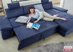 A kinyitott ágy funkció 145 cm széles és akár két személy részére is kényelmes fekhelyül szolgál