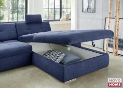 Az ágyneműtartóban a nappaliban lévő plédek és párnák kényelmesen elhelyezhetők