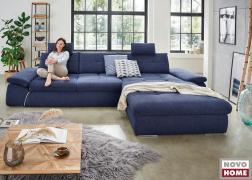 A 79 cm mély ülőfelületnek köszönhetően akár törökülésben is kényelmesen elférünk a kanapén