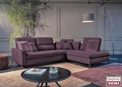 Lehajtható háttámlás kanapé elegáns lilában