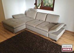 6682 L alakú kanapé KAFL szövettel