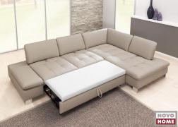 6682 ADA kinyitható kanapé a bőr kárpitozás miatt, csak textillel bevont fekvő rész