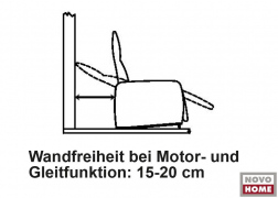 A falnál csak 15-20 cm helyet kell hagynunk a relax funkció működtetéséhez