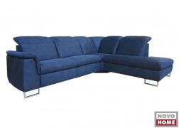 6971 ADA ülőgarnitúra kék színű szövet huzattal, A karfával