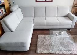 7406 sarokgarnitúra - 3 üléses kanapé résszel