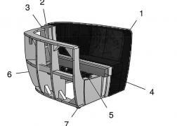 9069 ADA fotel szerkezeti felépítés