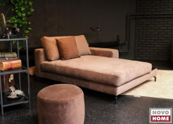 Különálló pihenőkanapé és körpuff TSV 4 bársonyból