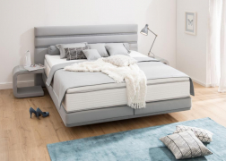 Ez a kárpitozott ágy bármilyen színkombinációban rendelhető