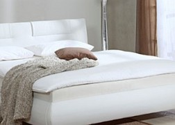 Bellino ADA ágy fehér textilbőr kárpittal