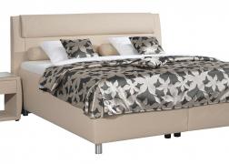 Bozana franciaágy, elegáns íves ágytesttel és Ancora éjjeliszekrénnyel
