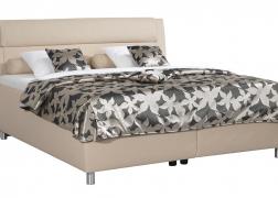Elegáns íves ágytest és 1-es típusú fejvég NTLO 2 textilbőr huzattal