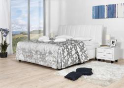 Gala ágy NTLO 1 textilbőrrel 2-es fejvéggel és PUF 1 ágytakaróval