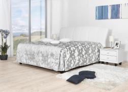 Gala ágyneműtartós ágy 3-as fejvég és PUF 1 ágytakaró