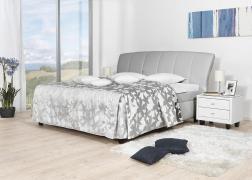 Gala ágyneműtartós ágy 3-as fejvéggel elegáns világos szürke színben