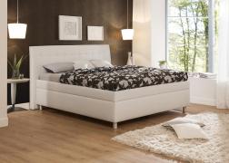Gala ágy 4-es, tűzött fejvéggel NTLO 1-es textilbőrrel