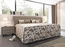 Gala ADA ágy NTLO8 textilbőrrel és PUF2 ágytakaróval, 3-as fejvéggel