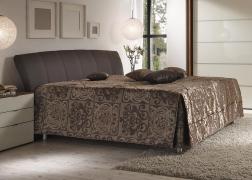 Gala ADA ágyneműtartós ágy NTLO 4 barna textilbőrrel és 3-as típusú fejvéggel