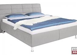 Karla ágy közelről, fém láb, választható kárpit, ágyneműtartó