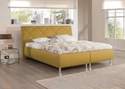 ADA mustár színű franciaágy ágyneműtartós kivitelben