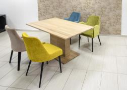 Tölgy asztal, középlábas kivitel