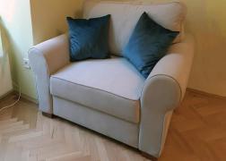 Lara fotelágy vásárlónk otthonában Mystic 201 szövettel