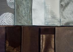 Arany és ezüst mintás anyagok 3 m széles fényáteresztő és dekor anyagok