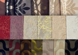 Egyszínű és mintás dekor és függönyanyagok nagy választékban nagy választékban kaphatók