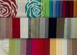 Egyszínű és mintás dekor és függönyanyagok nagy választékban
