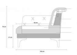 Galla fotel szerkezeti ábra