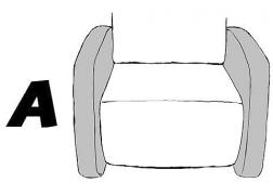 A típusú szögletes karfa