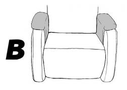 B típusú párnarátétes karfa