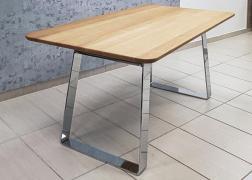 Male asztal tömör tölgy asztallappal
