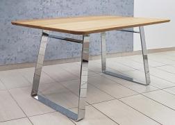 Male asztal króm lábbal