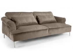 Manhattan kanapé barna bársony huzattal