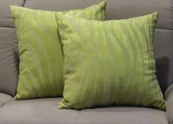 Zöld díszpárna fényes csíkokkal 50x50 cm 6.500 Ft