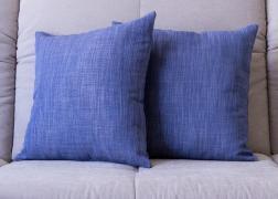 Kék különleges vászon párna 45x45 cm, 6.500 Ft