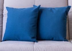 Kék színű vászon párna 45x45 cm, 6.500 Ft