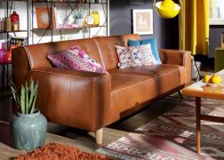 Nordic Chic kanapé valódi bőr huzattal